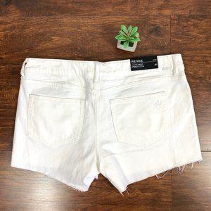DL1961 Cut-Off Hem Renee Smart Denim Mini Shorts